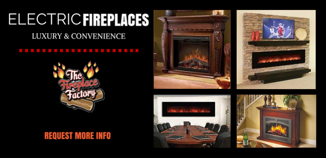 Electric Fireplaces from The Fireplace Factory in NY